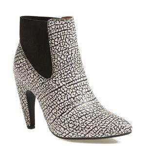 Jeffrey Campbell calzino white black boots 8